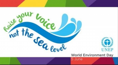 Raise your voice, not the sea level - World Environment Day Slogan