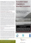 Ecosystem-based Adaptation in Mountain Ecosystems: Challenges and Opportunities in Nepal, Peru and Uganda